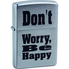 <b>Зажигалка бензиновая</b> Zippo <b>Don</b>'<b>t</b> Worry (серебристая)