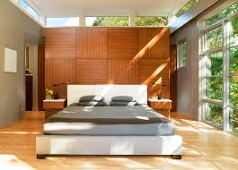 bedroom paneling ideas: interior ideas wooden paneling with small clerestory windows and for bright design white bed interior