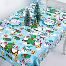 <b>Christmas Print</b> Tablecloth <b>Waterproof</b> Kitchen Dining Table Cloth ...