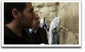 Rexhep Hoxha and his son Ermal at the Western Wall in Jerusalem. ©JWM Productions Rexhep Hoxha and his son Ermal at the Western Wall in Jerusalem. - Besa_production_RexhepErmalWestWall_thumbnail