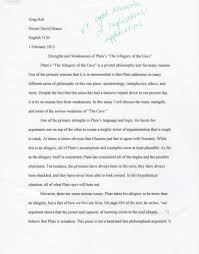 example discussion essay  how to write a grade a essay essay  essay strengths and weaknesses of platos quotthe allegory of