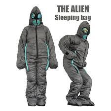 <b>Alien Walking Sleeping Bag</b> Human Body Mummy Outdoor or Indoor ...
