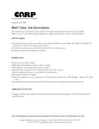 local tutoring resume   sales   tutor   lewesmrsample resume  math tutor job description resume for