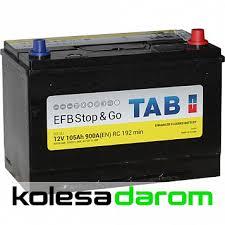 "Купить аккумулятор легковой ""<b>TAB</b>"" <b>EFB</b> Stop&Go JIS 105Ач о/п в ..."