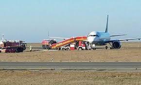 Lufthansa passenger jet skids off the runway at Paris Charles de ...