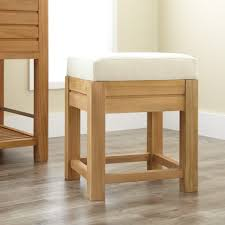 inspiration bathroom vanity chairs: bathroom amusing vanity stools for bathrooms decoration bathroom decorating inspiration features wooden vanity stool