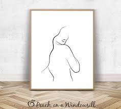 <b>Sexy Girl</b> Poster <b>Abstract Line</b> Drawing Naked Lady