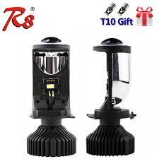 <b>R8 2PCS</b> Set <b>H4</b> 9003 Hi Lo Beam LED Mini Projector Lens Car ...
