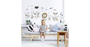 Cartoon Monkey <b>Rabbit</b> sheep <b>Animal</b> Wall Stickers <b>Kids Room</b> ...