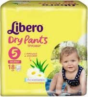 <b>Libero Dry Pants</b> 5 / 18 pcs – купить <b>подгузники</b>-<b>трусики</b> ...