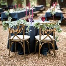 <b>Wooden Bride</b> & <b>Groom</b> Chair Signs - Rustic Country | wedding bits ...
