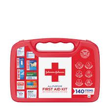 Johnson & Johnson All-Purpose <b>Portable</b> Compact <b>First Aid Kit</b>, 140 pc