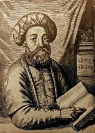 Retrato de Shabbetai Zevi, uma gravura velha no museu de Joods Historisch em Amsterdão