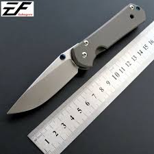 Eafengrow Sebenza Folding Blade Knife <b>D2 Steel Titanium</b> Handle ...