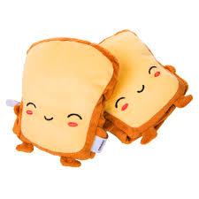 2x Cute <b>Toast USB Hand Warmer</b> USB Heating Gloves Half ...