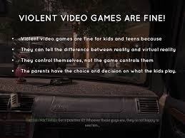 essay video games argumentative essay on violent video games