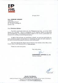 recognition letter from director general santiago of ipophl recognition letter from director general santiago of ipophl