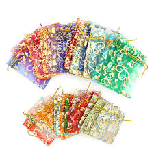 <b>20pcs lot Organza</b> Bags Drawstring Bags <b>Jewelry Packaging</b> ...