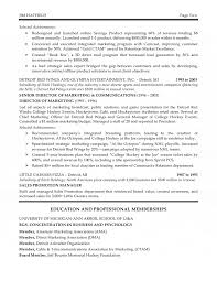 marketing executive resume corporate marketing executive resume
