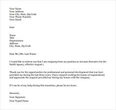 formal resignation letter      download free documents in word  pdfsample formal resignation letter pdf