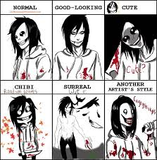 easy creepypasta drawing | Style Meme with Jeff the Killer by ... via Relatably.com