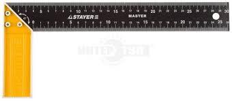Угольник <b>Stayer Master</b> столярный, стальное <b>полотно</b>, 300мм ...