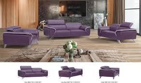 Purple Living Room Set 1513 Italian Leather Living Room Set In Purple Free Shipping