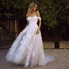 Store <b>LORIE lace wedding</b> ceremony clothes 2020 off the shoulder ...