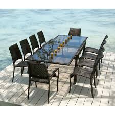 Dining Room Tables And Chairs For 10 Seater Wicker Garden Outdoor Rattan Furniture Set Chair Dining