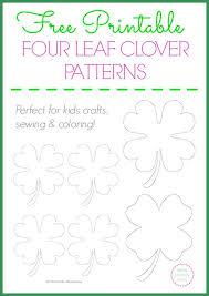 Free Printable <b>Four Leaf Clover</b> Templates – <b>Large</b> & Small Patterns ...