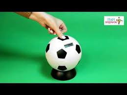 Электронная <b>копилка</b> «<b>Футбольный мяч</b>» - YouTube