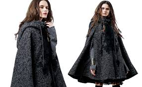 Artka <b>Women's</b> Hooded Wool Blend Cape Coat with <b>Vintage</b> ...