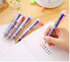 1pcs/Lot 6 In 1 Colorful <b>Pens</b> Novelty Multicolor Ballpoint <b>Pen</b> ...