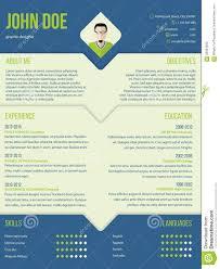 modern curriculum cv resume template design stock vector image modern curriculum cv resume template design