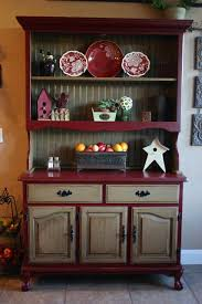 ideas china hutch decor pinterest: not crazy about the colors but i like the idea of two tones with the natural