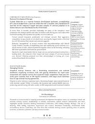 sales and marketing  senior business development manager  resume    sample provided by top margin