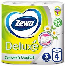 <b>Туалетная бумага Zewa Deluxe</b> Ромашка трёхслойная — купить ...