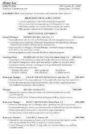 resume example for restaurant  seangarrette coresume
