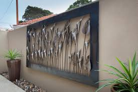 designs outdoor wall art: outdoor wall art black steel outdoor wall art ideas stained varnished exterior decorations modern outdoor