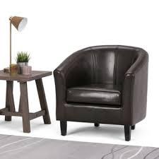 WYNDENHALL Parker 30 inch Wide Transitional <b>Tub Chair Faux</b> Air ...