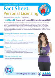 personal licence holders level course