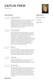 property manager resume samples musicians resume template