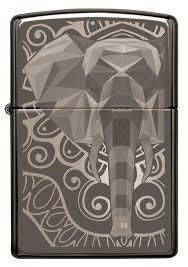 <b>Зажигалка</b> ZIPPO <b>Elephant Fancy</b> Fill Design с покрытием Black ...