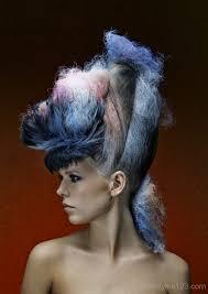 shaded avant garde hairstyle avant garde