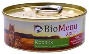 Корм для кошек <b>BioMenu Adult консервы</b> для кошек с кроликом