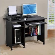 poundex computer desk in black contemporary desks and hutches black computer desks