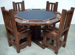 Log Dining Room Tables Poker Table Barnwood Generation Log Furniture