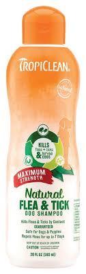 <b>TropiClean Maximum Strength</b> Natural Flea & Tick Dog Shampoo ...