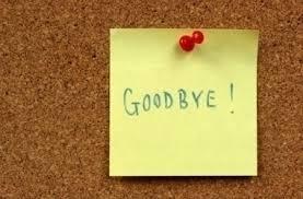 postit note goodbye