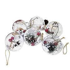 Buy BESTOYARD 5pcs <b>Christmas Balls</b> with Holy <b>Berry</b> Snowflake ...